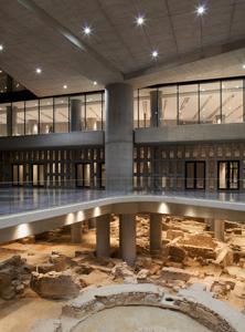 Nuovo museo dell'acropoli - interno